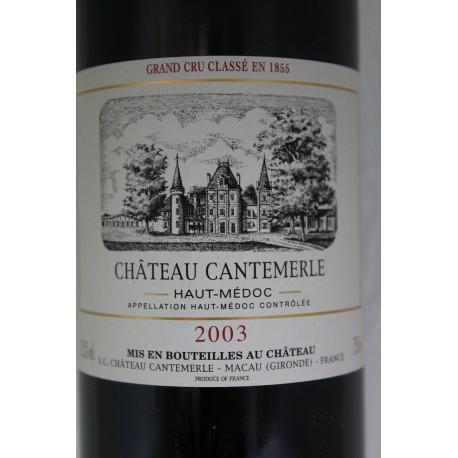Château Cantemerle 2003 - Haut Médoc - 5eme Grand Cru Classé